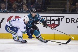 Have the Sharks kept Goldobin in AHL to avoid exposure to the expansion draft? (Kyle Terada-USA TODAY Sports)