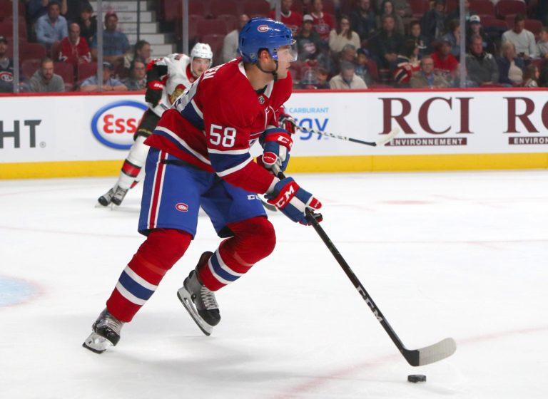 Canadiens defenseman Noah Juulsen