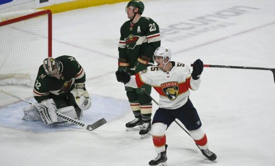 Acciari Scores Late to Give Panthers 5-4 Win Over Wild