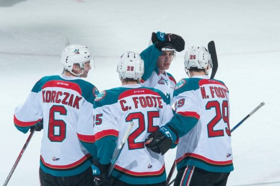Kelowna Rockets celebration