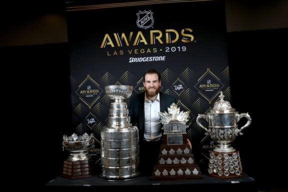 Ryan O'Reilly St. Louis Blues Frank J. Selke Stanley Cup Conn Smythe Lady Byng