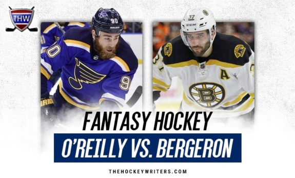 Fantasy Hockey Ryan O'Reilly St. Louis Blues Patrice Bergeron Boston Bruins