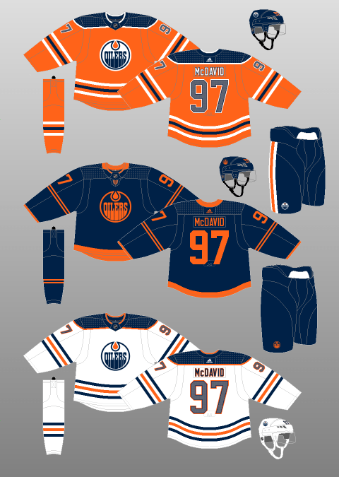 Edmonton Oilers uniforms 2019-21