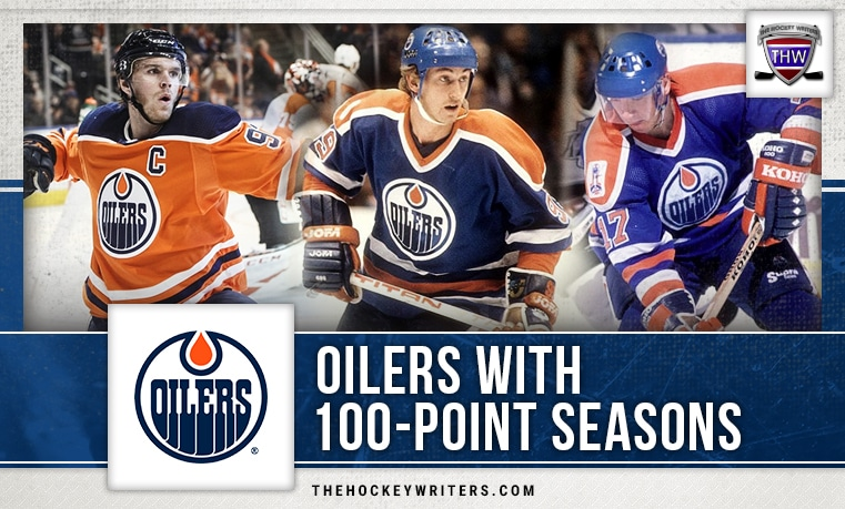 100 point seasons Edmonton Oilers Connor McDavid Wayne Gretzky Jari Kurri