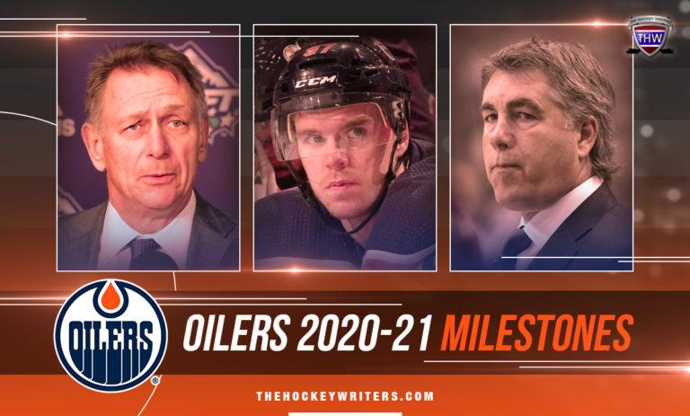 Edmonton Oilers reachable milestones Connor McDavid, Dave Tippett, and Ken Holland 2020-21