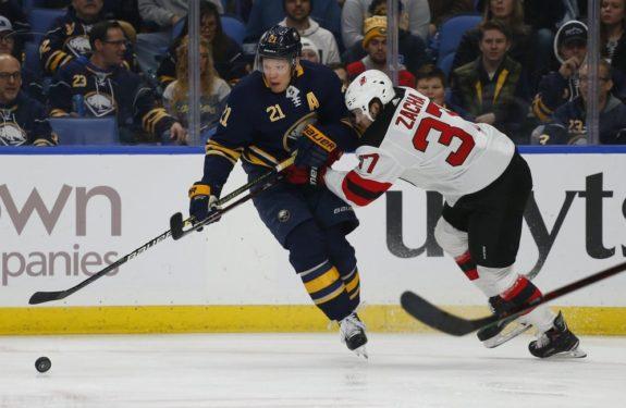 Buffalo Sabres Kyle Okposo New Jersey Devils Pavel Zacha