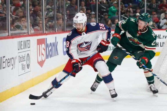 Columbus Blue Jackets forward Oliver Bjorkstrand