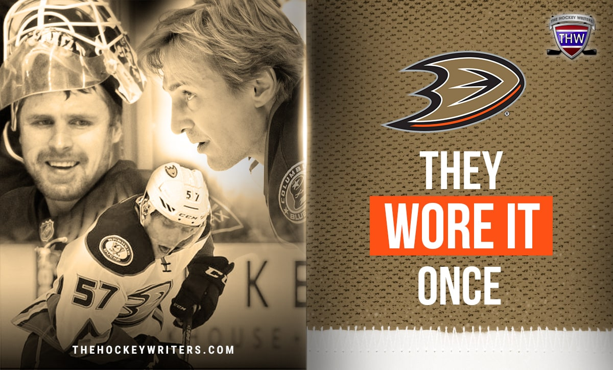 Sergei Fedorov, David Perron and Ilya Bryzgalov They Wore It Once Anaheim Ducks