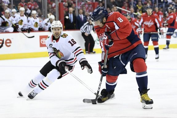 Chicago Blackhawks center Marcus Kruger Washington Capitals left wing Alex Ovechkin