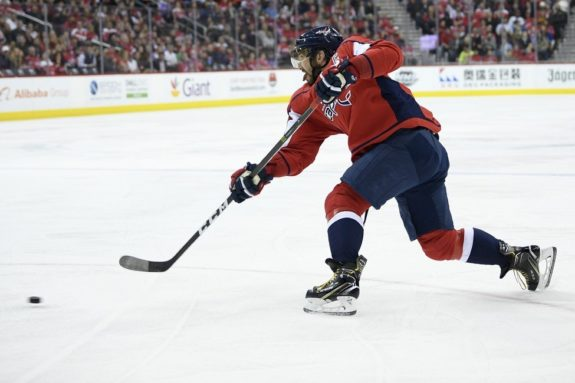 Washington Capitals left Alex Ovechkin