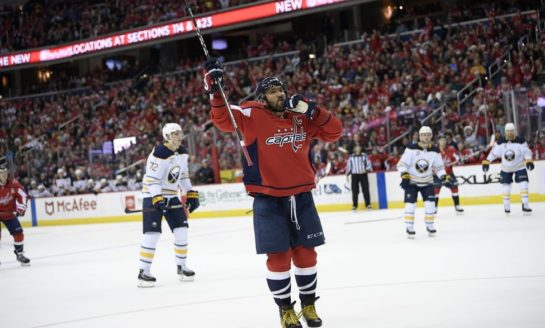Capitals Beat Sabres on Ovechkin Shootout Winner
