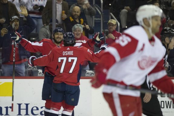 Washington Capitals Alex Ovechkin T.J. Oshie
