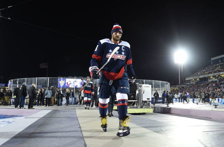 Alex Ovechkin #8 of the Washington Capitals
