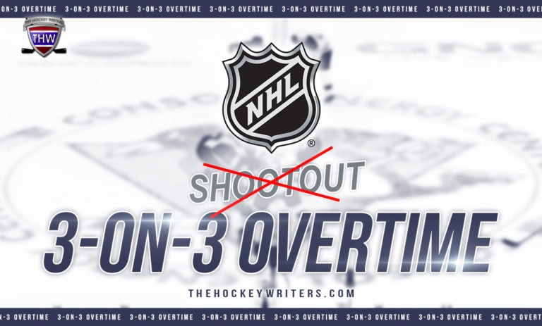 NHL Should Eliminate the Shootout & Finish Games With 3-on-3 Overtime