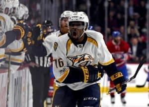 P.K. Subban of the Nashville Predators.