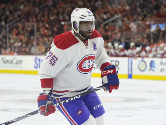 Ex-Montreal Canadiens defenseman P.K. Subban -
