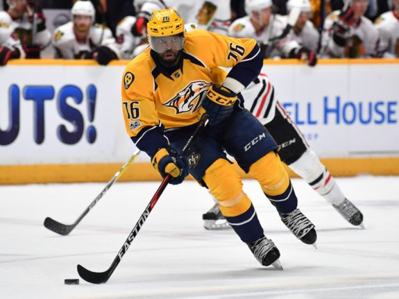 Nashville Predators defenseman P.K. Subban