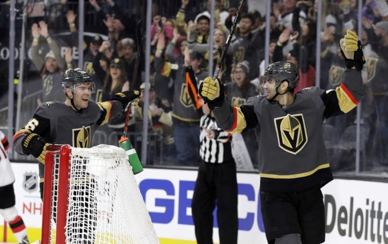 Vegas Golden Knights Max Pacioretty and Paul Stastny