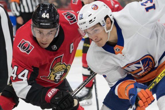 Ottawa Senators Jean-Gabriel Pageau New York Islanders Mathew Barzal