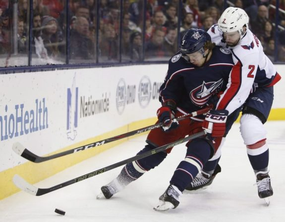 Columbus Blue Jackets' Artemi Panarin Washington Capitals' Matt Niskanen