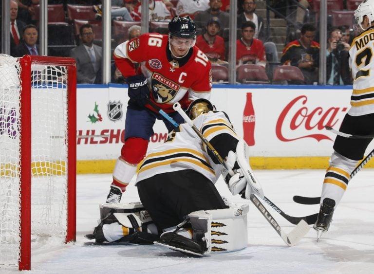 Boston Bruins Jaroslav Halak and Florida Panthers Aleksander Barkov