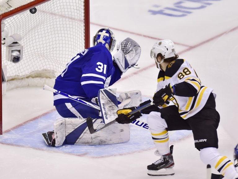 Boston Bruins David Pastrnak Toronto Maple Leafs Frederik Andersen