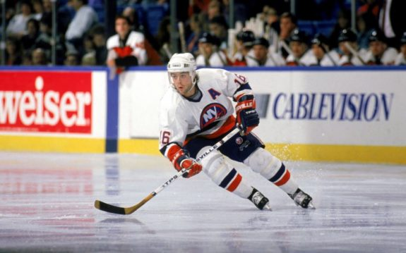 Islanders Center Pat LaFontaine