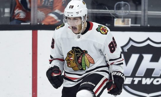 Kane gets 1,000th point, Blackhawks beat Jets 5-2