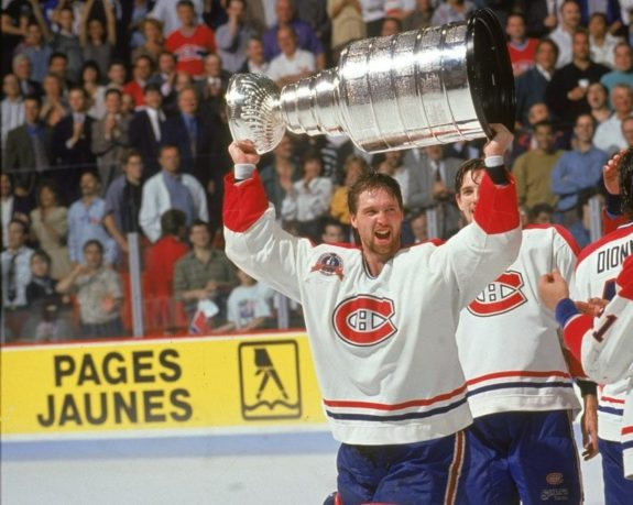 Patrick Roy of the Montreal Canadiens