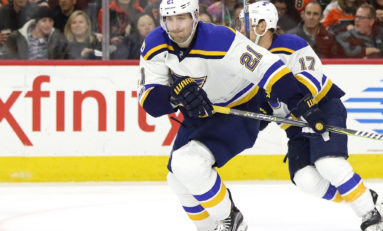 Blues' Berglund Injured After Training Accident