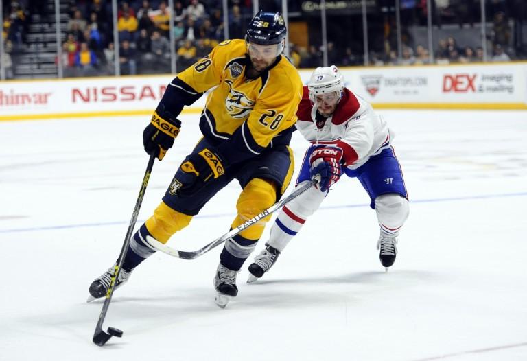 Gaustad not being re-signed, Nashville Predators, NHL