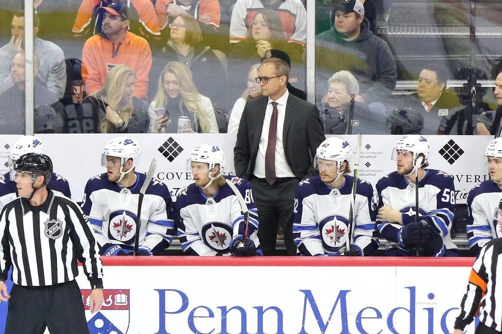 Paul Maurice Winnipeg Jets bench