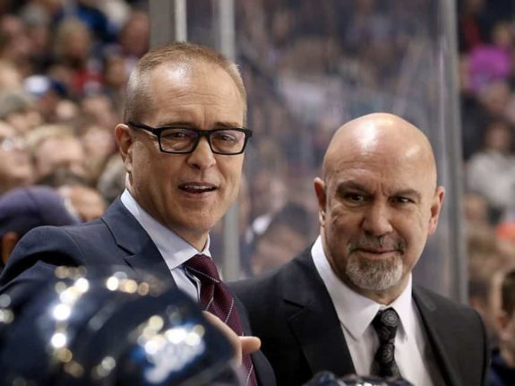 Head Coach Paul Maurice and Assistant Coach Charlie Huddy
