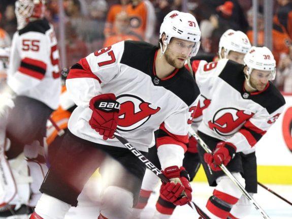Pavel Zacha #37, New Jersey Devils