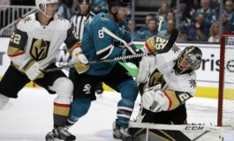 Sharks Beat Golden Knights With Help of Pavelski's Chin
