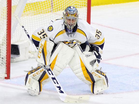 Pekka Rinne of the Nashville Predators.