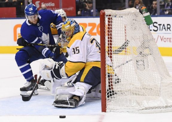Toronto Maple Leafs Connor Brown Nashville Predators Pekka Rinne