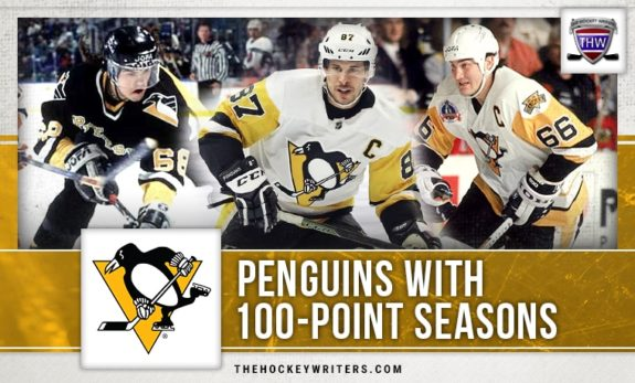 Sidney Crosby Mario Lemieux Jaromir Jagr 100 point seasons