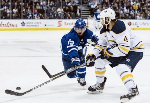 Toronto Maple Leafs Nic Petan Buffalo Sabres Zach Bogosian