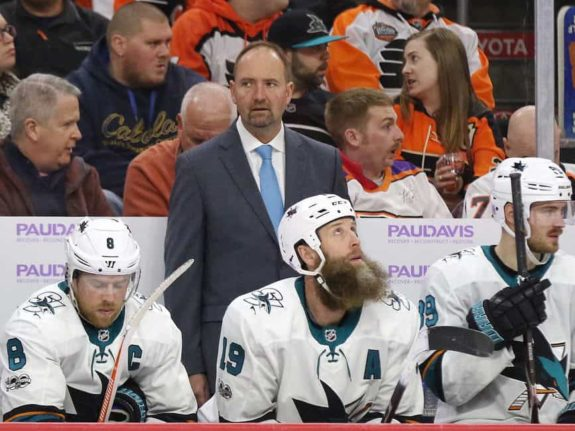 Peter DeBoer Joe Thornton Joe Pavelski Sharks