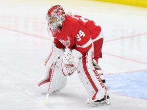 Petr Mrazek of the Detroit Red Wings.