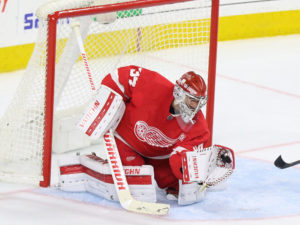 Petr Mrazek of the Detroit Red Wings.