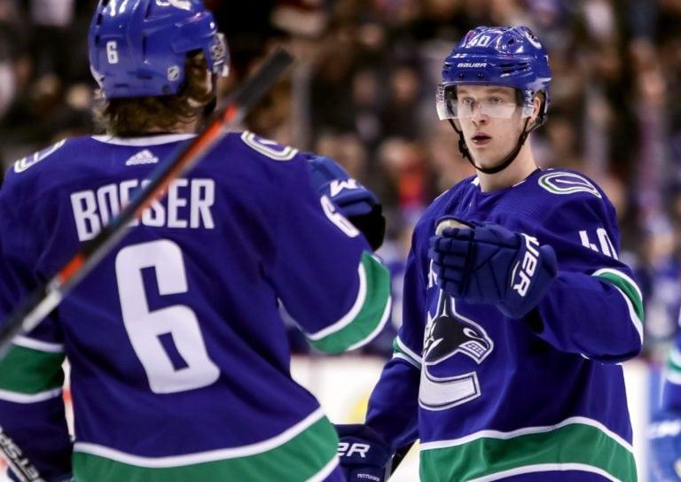 Vancouver Canucks Elias Pettersson