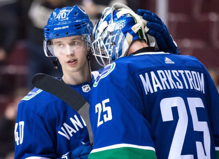 Elias Pettersson, Jacob Markstrom Vancouver Canucks