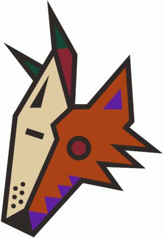 Arizona Coyotes 1990s Coyote head logo