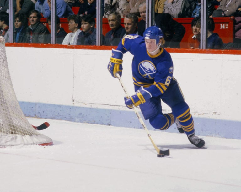 Phil Housley #6 of the Buffalo Sabres