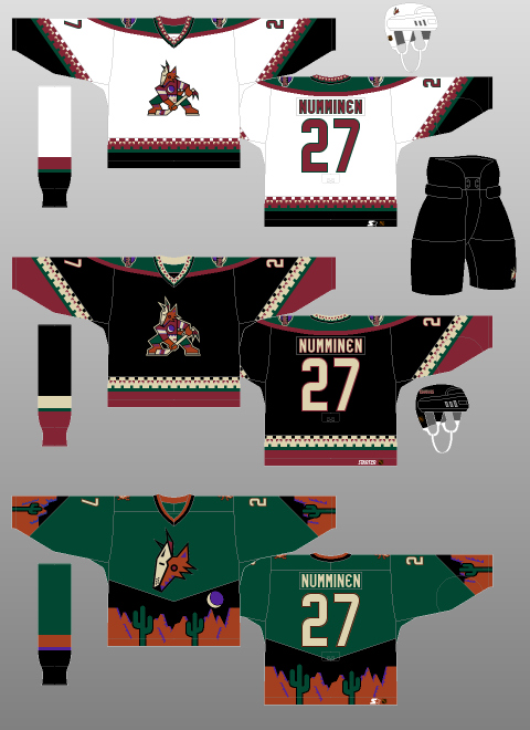Coyotes 1990s jersey