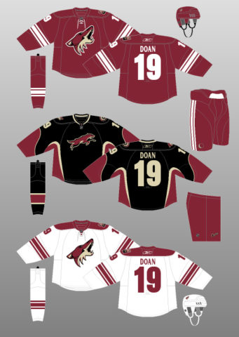 phoenix coyotes uniforms