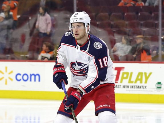 Pierre-Luc Dubois #18, Columbus Blue Jackets