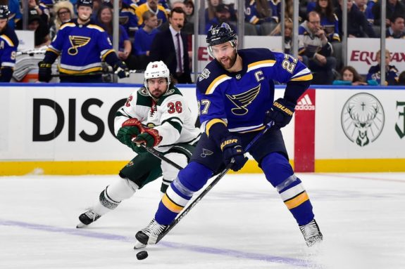 St. Louis Blues Alex Pietrangelo Minnesota Wild Mats Zuccarello